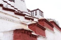Palazzo del Potala bianco nel Tibet Fotografia Stock Libera da Diritti