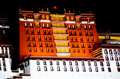 Palazzo del Potala nel Tibet, Cina Immagini Stock Libere da Diritti