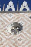 Palazzo del ` s del doge sulla piazza San Marco, facciata, Venezia, Italia Immagini Stock Libere da Diritti