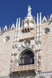Palazzo del ` s del doge sulla piazza San Marco, facciata, Venezia, Italia Immagini Stock