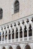 Palazzo del ` s del doge sulla piazza San Marco, facciata, Venezia, Italia Fotografie Stock Libere da Diritti