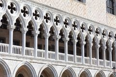 Palazzo del ` s del doge sulla piazza San Marco, facciata, Venezia, Italia Fotografia Stock Libera da Diritti