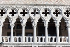 Palazzo del ` s del doge sulla piazza San Marco, facciata, Venezia, Italia Immagine Stock Libera da Diritti