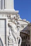 Palazzo del ` s del doge sulla piazza San Marco, sollievo sulla facciata e sul ponte dei sospiri, Venezia, Italia Fotografia Stock Libera da Diritti