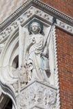 Palazzo del ` s del doge sulla piazza San Marco, sollievo sulla facciata, Venezia, Italia Immagini Stock Libere da Diritti