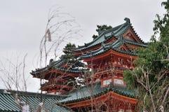 Palazzo del santuario di Heian Fotografia Stock Libera da Diritti