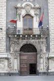 Palazzo del seminario degli ecclesiastici, Catania La Sicilia, Italia entrata Fotografia Stock Libera da Diritti