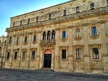Palazzo del Seminario in Piazza del Duomo - Lecce, Italië royalty-vrije stock afbeeldingen