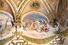 Palazzo del Te的装饰在曼托瓦 图库摄影
