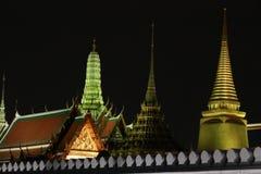 Palazzo del tempio pubblico del kaew di pra di Wat grande, Bangkok Tailandia Fotografie Stock