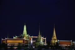 Palazzo del tempio pubblico del kaew di pra di Wat grande, Bangkok Tailandia Fotografie Stock Libere da Diritti