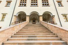 Palazzo del XVII secolo dei vescovi di Cracovia in Kielce, Polonia Fotografia Stock Libera da Diritti