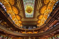 Palazzo dell'interno catalano di musica Fotografia Stock Libera da Diritti