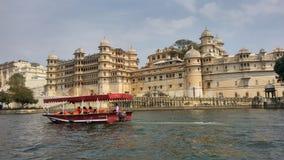 Palazzo della città di Udaipur, Ragiastan, India fotografie stock