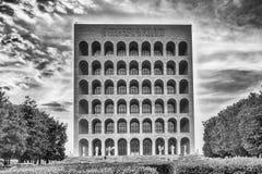 The Palazzo della Civiltà Italiana, aka Square Colosseum, Rome, Royalty Free Stock Images