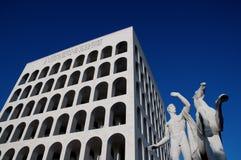 Palazzo della Civiltà Italiana in Rome. The Palazzo della Civiltà Italiana is found in Rome, is known as the Square Colosseum and was built from 1938 to stock image