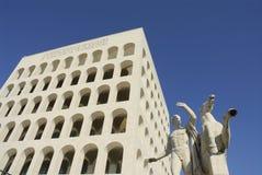 Palazzo della Civilta del Lavoro Stock Photo