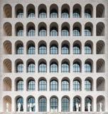 The Palazzo della Civilta Italiana, aka Square Colosseum, Rome, Stock Photo