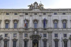 Palazzo della Consulta,意大利人立宪法院,罗马,意大利的位子 免版税库存照片
