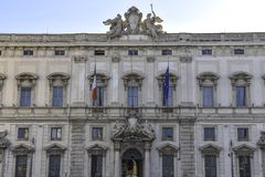 Palazzo della Consulta, seat of the Italian Constitutional Court, Rome, Italy. Palazzo della Consulta, seat of the Italian Constitutional Court, constitutional royalty free stock photos