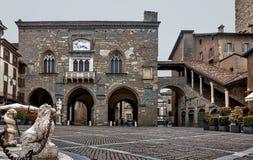 Palazzo della Ragione -贝加莫-意大利 免版税库存照片