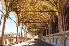 Palazzo Della Ragione, the external gallery. Padua,. Italy royalty free stock image