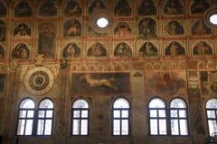 Palazzo della Ragione. At Padova - Italy - On october 2018 - detail of vast frescoes cycle decorating the Sala or main hall of Padua`s Palazzo della Ragione the stock image