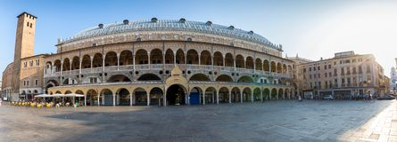 The Palazzo della Ragione in Padova, Italy. The Palazzo della Ragione at the Piazza delle Erbe in Padova, Italy stock photo