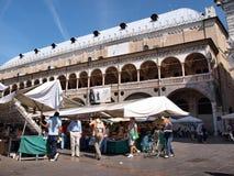 Palazzo della Ragione, Padua, Italy. The market in front of Palazzo della Ragione in Padua, Italy Royalty Free Stock Image
