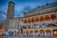 Palazzo della Ragione,  Padua, Italy. People, bicycles Stock Image