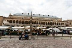Palazzo della Ragione on Piazza della Frutta in Padue, Royalty Free Stock Photos