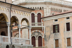 Palazzo della Ragione on Piazza della Frutta in Padue Stock Photos