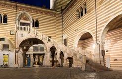 Palazzo della Ragione and Scala della Ragione in Verona Stock Photos
