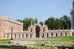 Palazzo della regina Ekaterina Second Great in Tsaritsino, Mosca immagine stock libera da diritti