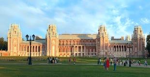 Palazzo della regina Ekaterina Second Great in Tsaritsino, Mosca, Ru fotografia stock libera da diritti