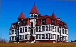 Palazzo della scuola privata immagine stock libera da diritti