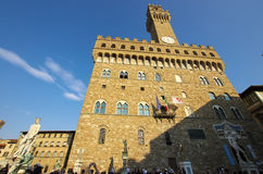 Palazzo della Signoria, the city hall of Florence. Royalty Free Stock Photos