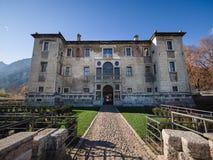 ` Palazzo delle Albere `是在特伦托建造的16世纪别墅堡垒 免版税库存照片