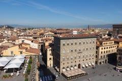 Palazzo delle Assicurazioni Generali i piazzadellaen Signoria i Florence, Tuscany, Italien arkivbild