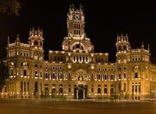 Palazzo delle comunicazioni a Madrid Fotografia Stock Libera da Diritti