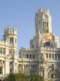 Palazzo delle comunicazioni, Madrid immagini stock libere da diritti