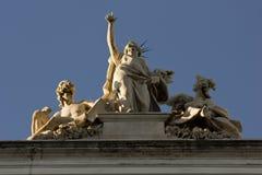 Palazzo delle Esposizioni上面在罗马 免版税库存照片