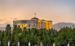 Palazzo delle nazioni, la residenza del presidente del Tagikistan, in Dušanbe fotografia stock