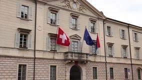 Palazzo delle Orsoline, Bellinzona stock video