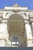 Palazzo delleEsposizioni neoclassical mässhall i Rome Fotografering för Bildbyråer