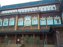 Palazzo dello zar Alexey Mikhailovitch Romanov in Kolomenskoe Fotografia Stock