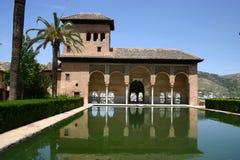 Palazzo di Alhambra a Granada, Andalusia Fotografia Stock