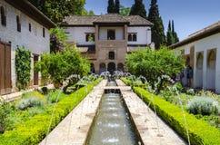 Palazzo di Alhambra, Granada, Spagna Fotografia Stock Libera da Diritti