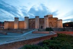 Palazzo di Aljaferia a Zaragoza Fotografia Stock Libera da Diritti