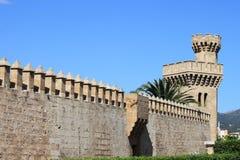Palazzo di Almudaina in Palma de Mallorca Immagine Stock Libera da Diritti